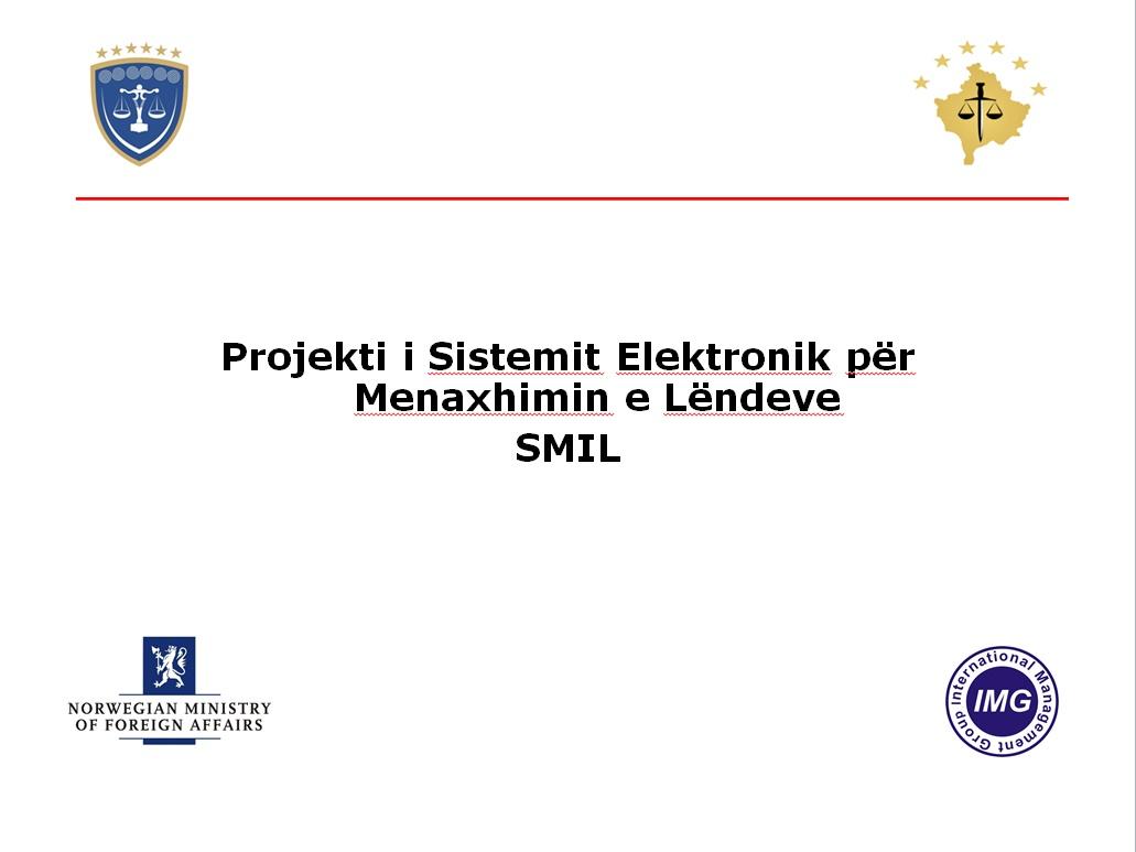 Takim-Prezantim i mbajtur nga Këshilli Gjyqësor i Kosovës dhe Këshilli Prokurorial i Kosovës për Sistemin Elektronik të Menaxhimit të Lëndeve (SMIL)